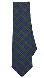 Thomas Mason Blackwatch Plaid Tie Navy Green
