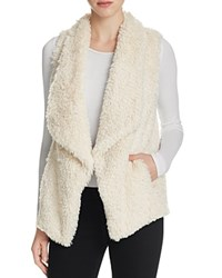 Calvin Klein Draped Faux Fur Vest Soft White