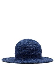 Etro Crocheted Cotton Hat Blue