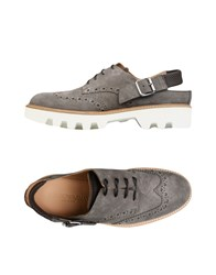 Emporio Armani Lace Up Shoes Grey