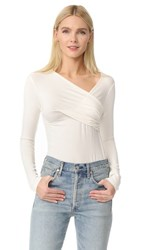 L'agence Karlie Faux Wrap Top Ivory