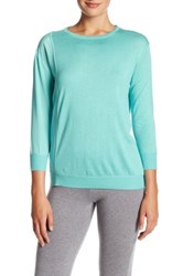 Magaschoni Silk And Cashmere Pullover Sweater Blue