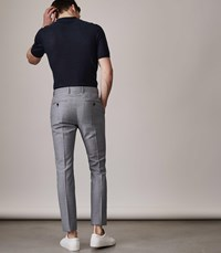 Reiss Wangle Slim Fit Puppytooth Trousers In Soft Blue