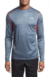 Men's Under Armour 'Coldblack Run' Fitted Heatgear Long Sleeve T Shirt Wire Red