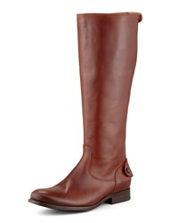 Melissa Zip Riding Boot Cognac Frye Red