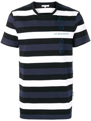 Les Benjamins Otola Striped T Shirt Blue