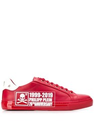 Philipp Plein 20Th Anniversary Logo Low Top Sneakers Red