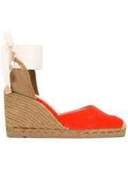 Castaner Carina Wedge Espadrilles Yellow Orange