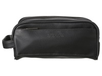 Kenneth Cole Reaction Vinyl Double Compartment Top Zip Travel Kit Black Bags