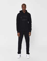 Reigning Champ Club Logo Pullover Hoodie Black