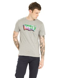 Levi's Batwing Housemark T Shirt Midtone Heather Grey