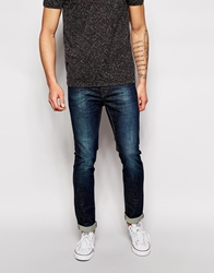 United Colors Of Benetton Jeans With Blasting In Slim Fit Darkblue901