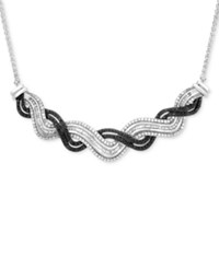 Wrapped In Love Diamond Wave Collar Necklace 1 Ct. T.W. Sterling Silver Created For Macy's