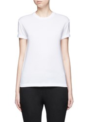 Alexander Wang Logo Embroidered Cotton T Shirt White
