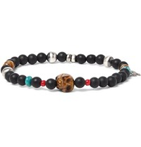 Peyote Bird Sterling Silver Turquoise And Tiger's Eye Bracelet Red