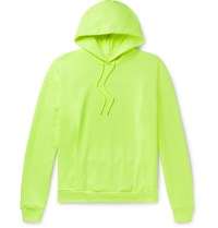 Martine Rose Fleece Back Cotton Jersey Hoodie Yellow