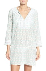 Women's Vineyard Vines 'Whale Tail' Chevron Print Cover Up Tunic