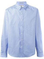 Andrea Pompilio Contrast Collar Shirt Blue