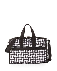Le Sport Sac Lesportsac Medium Houndstooth Print Weekender Bag Chic Noir