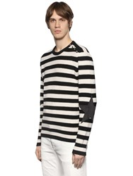 Just Cavalli Striped Wool Sweater W Star Patches