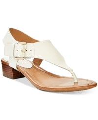 Tommy Hilfiger Kitty Block Heel Sandals Women's Shoes White
