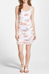 Splendid Cloud Tie Dye Dress White