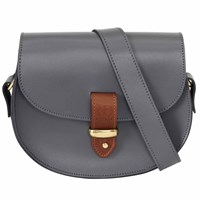 N'damus London Victoria Grey Cross Body Bag
