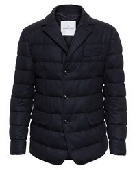 Moncler Wool Herringbone Jacket Flannel Black