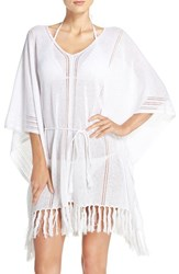 Tommy Bahama Women's Linen Blend Cover Up Poncho White