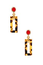 Elizabeth Cole Effie Earrings Metallic Gold