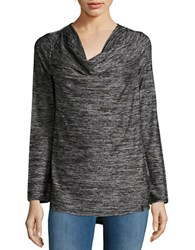 Marc New York Knit Cowlneck Top Black