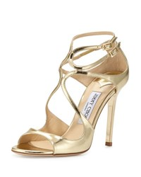 Jimmy Choo 100Mm Lang Mirror Leather Sa Gold