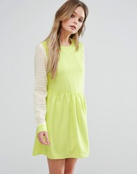 Jovonna Jovanna Right Direction Skater Dress Yellow