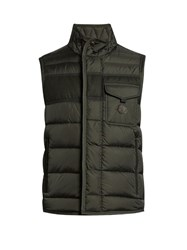 Moncler Athos Water Repellent Quilted Down Gilet Green