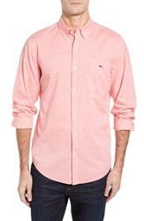 Vineyard Vines Men's Tucker Slim Fit Heathered Sport Shirt Strawberry Blonde