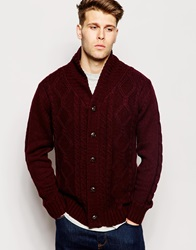 Brave Soul Shawl Neck Cardigan Red