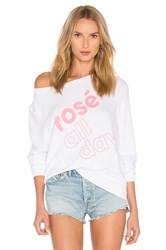 Wildfox Couture More Rose Top White