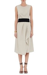 Narciso Rodriguez Women's Twill Pleated Dress Cream
