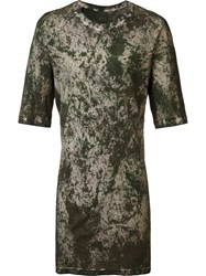 11 By Boris Bidjan Saberi Camouflage Long Fit T Shirt Green