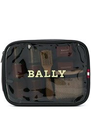 Bally Logo Wash Bag Black