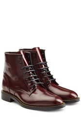 Dsquared2 Leather Ankle Boots Red