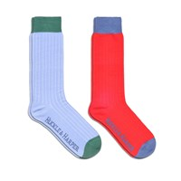 Huckle And Harper Socks Pack Cotton Blue And Red Red Blue