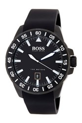 Hugo Boss Men's Deep Ocean Silicone Watch Black