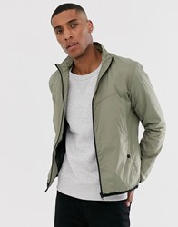 French Connection Funnel Tech Jacket Green
