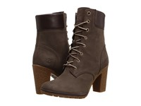 Timberland Earthkeepers Glancy 6 Boot Dark Brown Nubuck Women's Dress Lace Up Boots