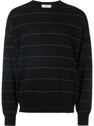 Ami Alexandre Mattiussi Striped Oversize Sweater Black