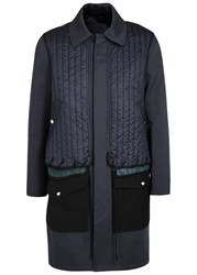 Tim Coppens Navy Quilted Cotton Coat
