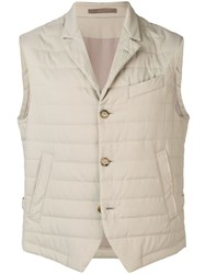 Eleventy Padded Fitted Gilet Neutrals