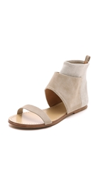 Belle By Sigerson Morrison Bristol Cuffed Suede Sandals Stucco