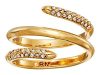 Rebecca Minkoff Pave Multi Row Ring Gold Crystal Ring